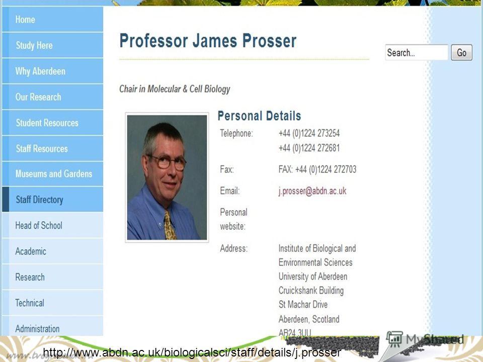 http://www.abdn.ac.uk/biologicalsci/staff/details/j.prosser