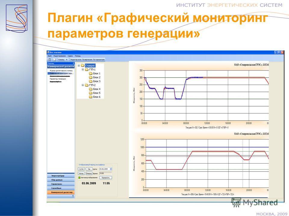 Плагин «Графический мониторинг параметров генерации»