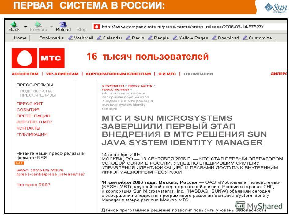 ПЕРВАЯ СИСТЕМА В РОССИИ: 16 тысяч пoльзoвателей