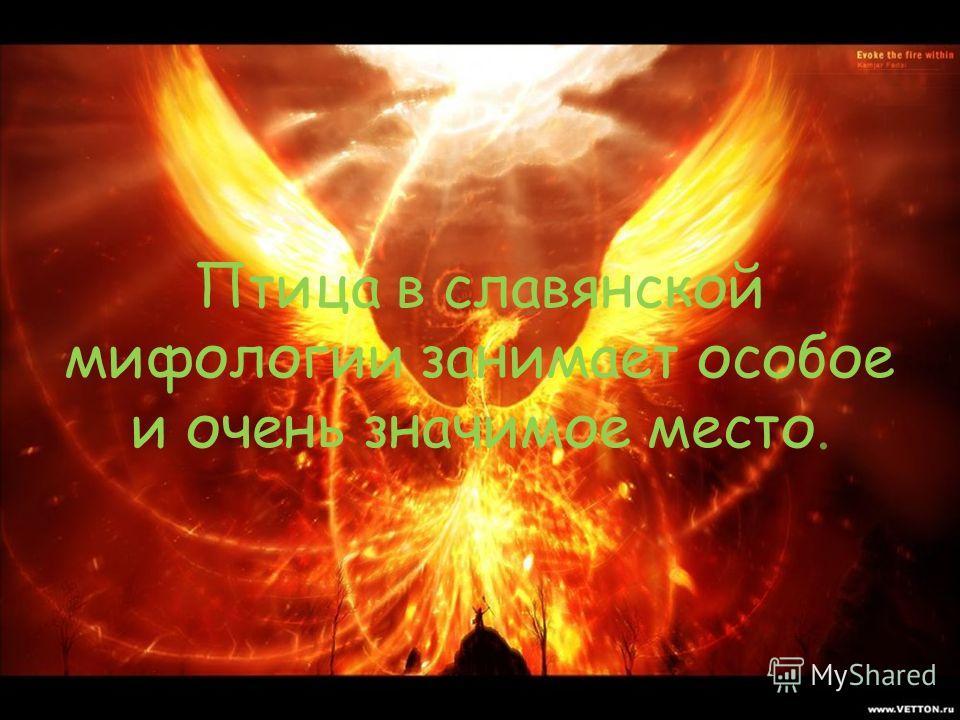 Птица в славянской мифологии занимает особое и очень значимое место.