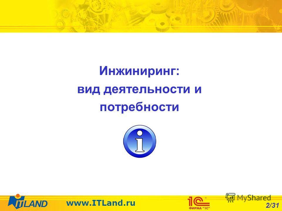 2/31 www.ITLand.ru Инжиниринг: вид деятельности и потребности