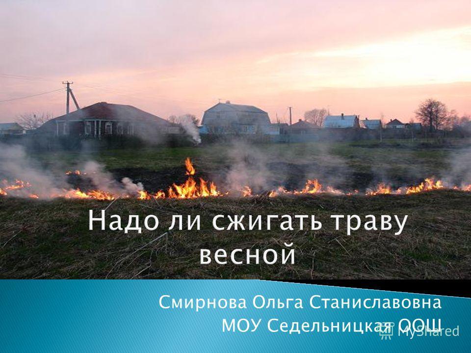 Смирнова Ольга Станиславовна МОУ Седельницкая ООШ