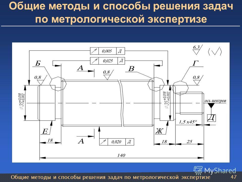 Общие методы и способы решения задач по метрологической экспертизе 47 Общие методы и способы решения задач по метрологической экспертизе