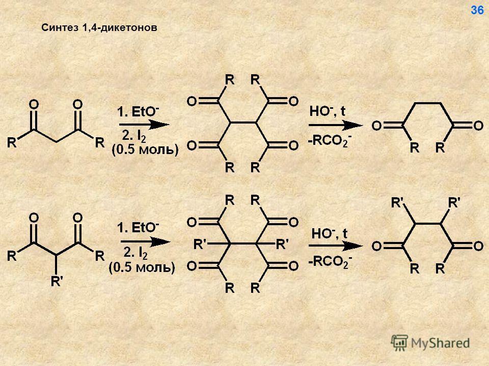 Синтез 1,4-дикетонов 36
