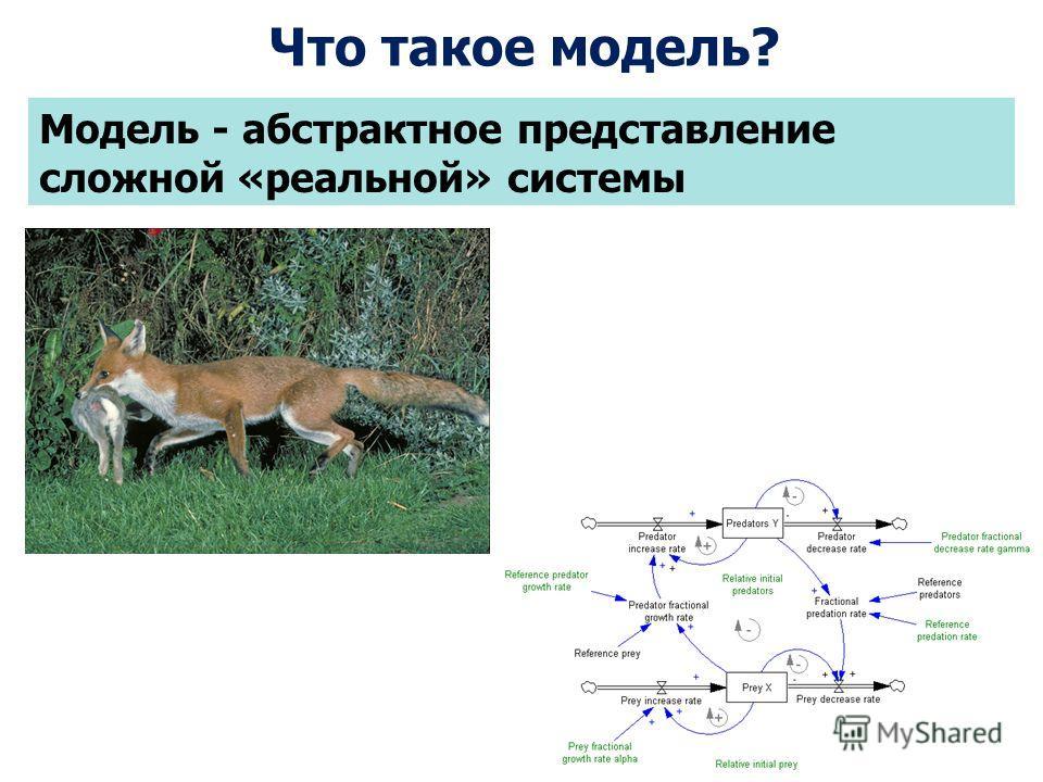 Модель - абстрактное представление сложной «реальной» системы Что такое модель?