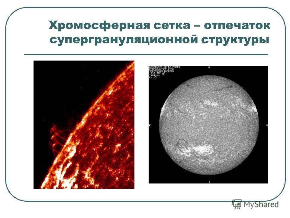 Хромосферная сетка – отпечаток супергрануляционной структуры
