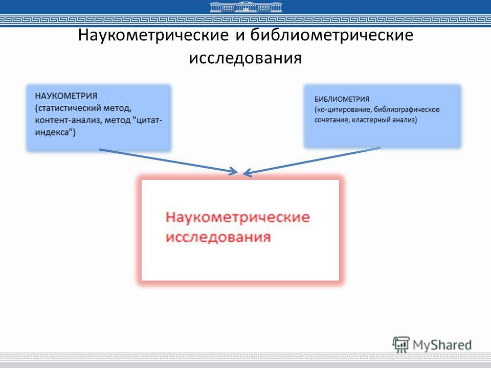 Наукометрические и библиометрические исследования