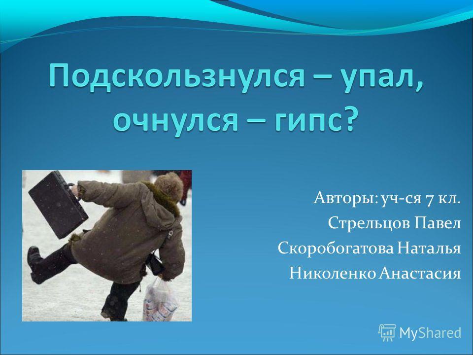 Авторы: уч-ся 7 кл. Стрельцов Павел Скоробогатова Наталья Николенко Анастасия