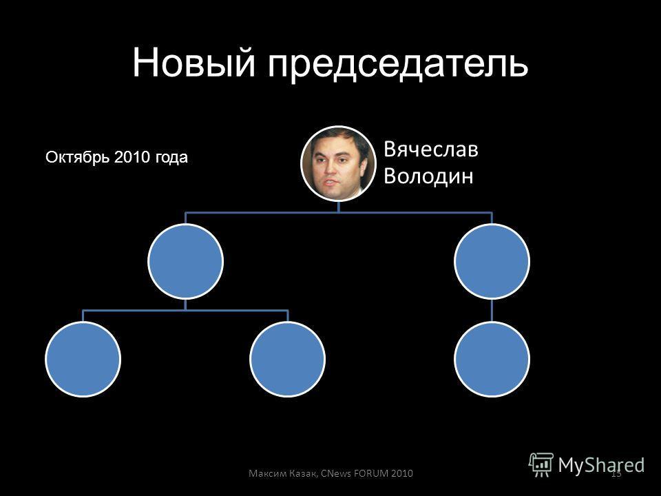 Новый председатель Вячеслав Володин Максим Казак, CNews FORUM 201015 Октябрь 2010 года
