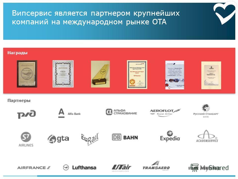 Випсервис является партнером крупнейших компаний на международном рынке OTA Награды Партнеры