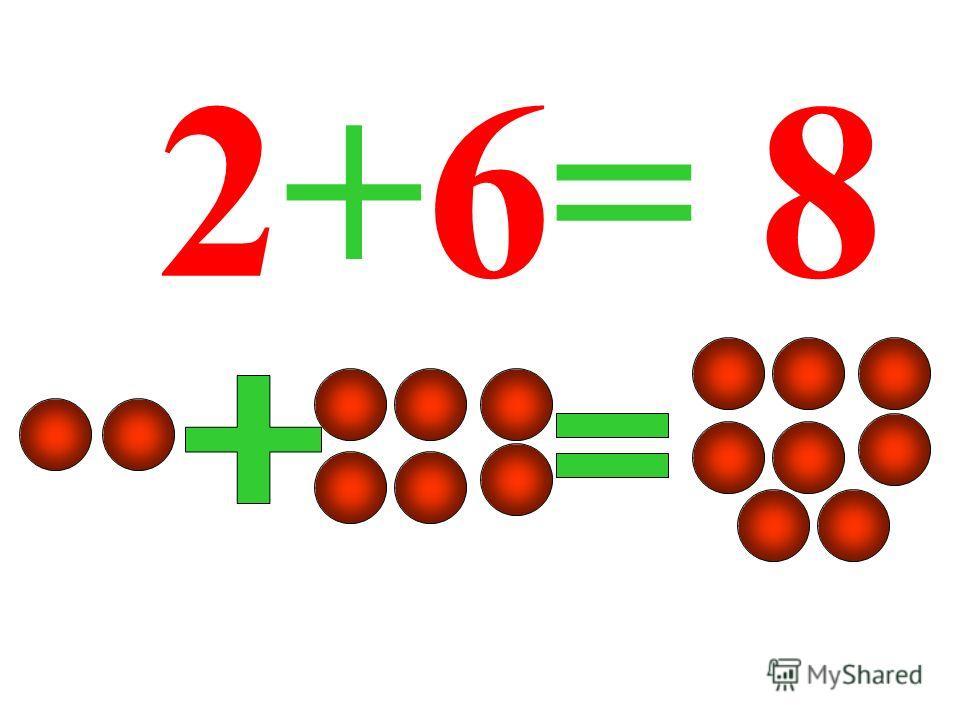 2+6= 8
