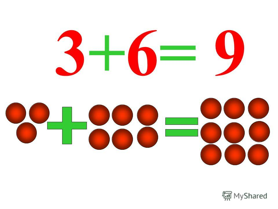 3+6= 9
