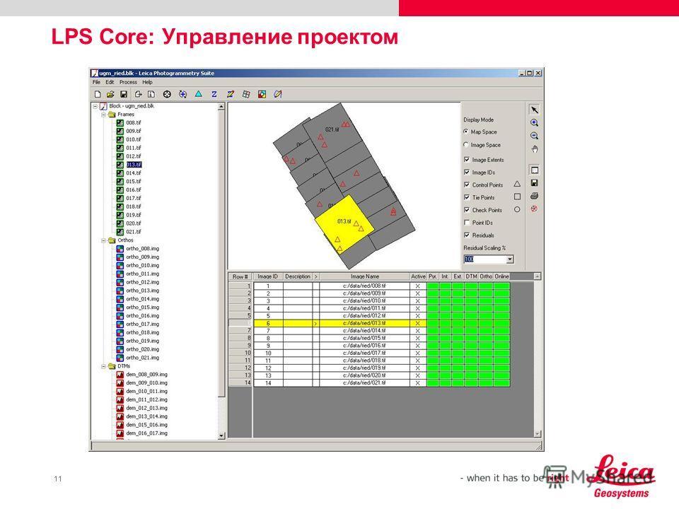 11 LPS Core: Управление проектом