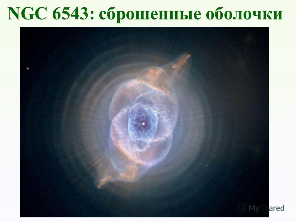 NGC 6543: сброшенные оболочки