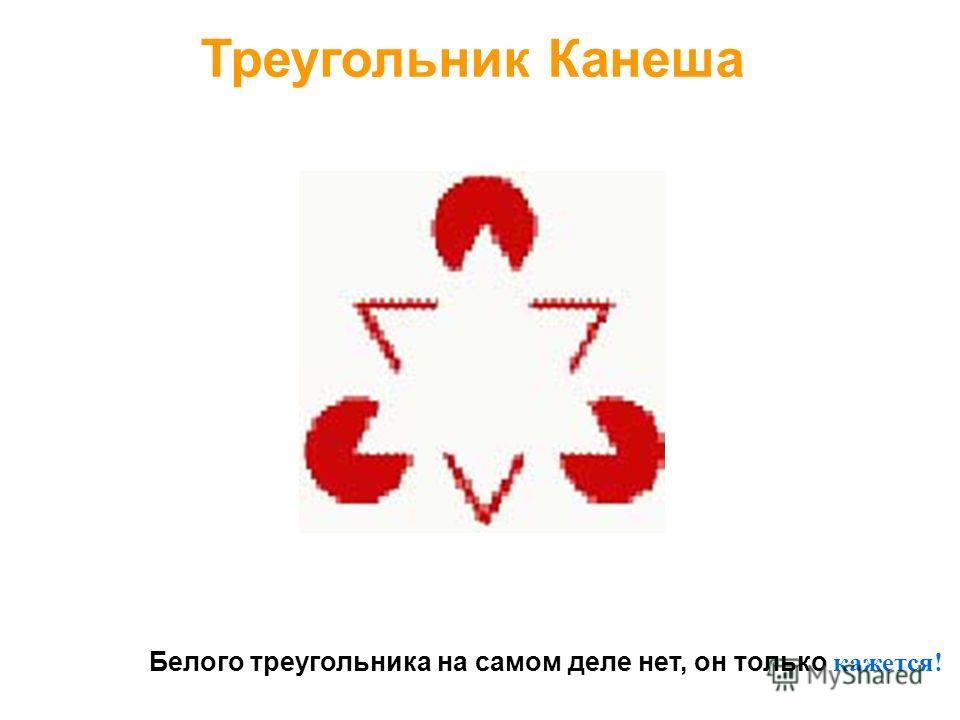 Белого треугольника на самом деле нет, он только кажется! Треугольник Канеша
