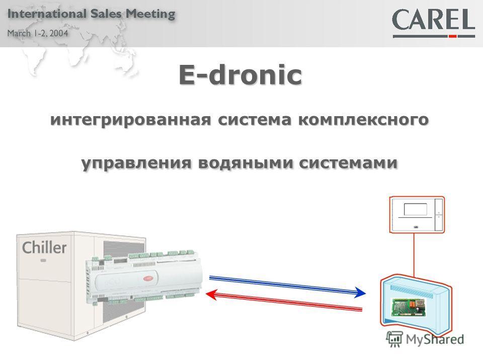 E-dronic интегрированная система комплексного управления водяными системами