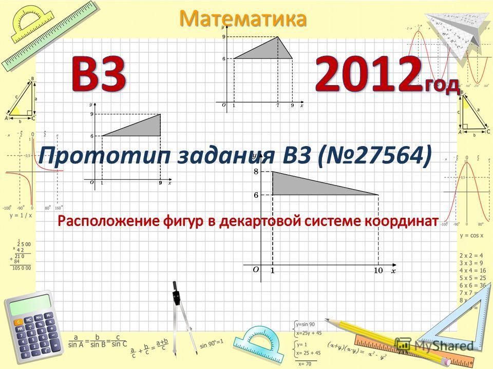 Математика Прототип задания B3 (27564)