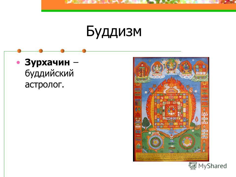 Буддизм Зурхачин – буддийский астролог.