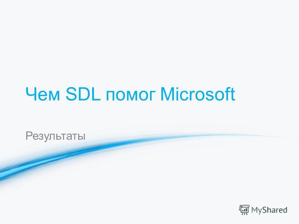 Чем SDL помог Microsoft Результаты