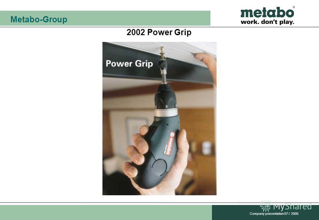 Metabo-Group Company presentation 07 / 2005 2002 Power Grip