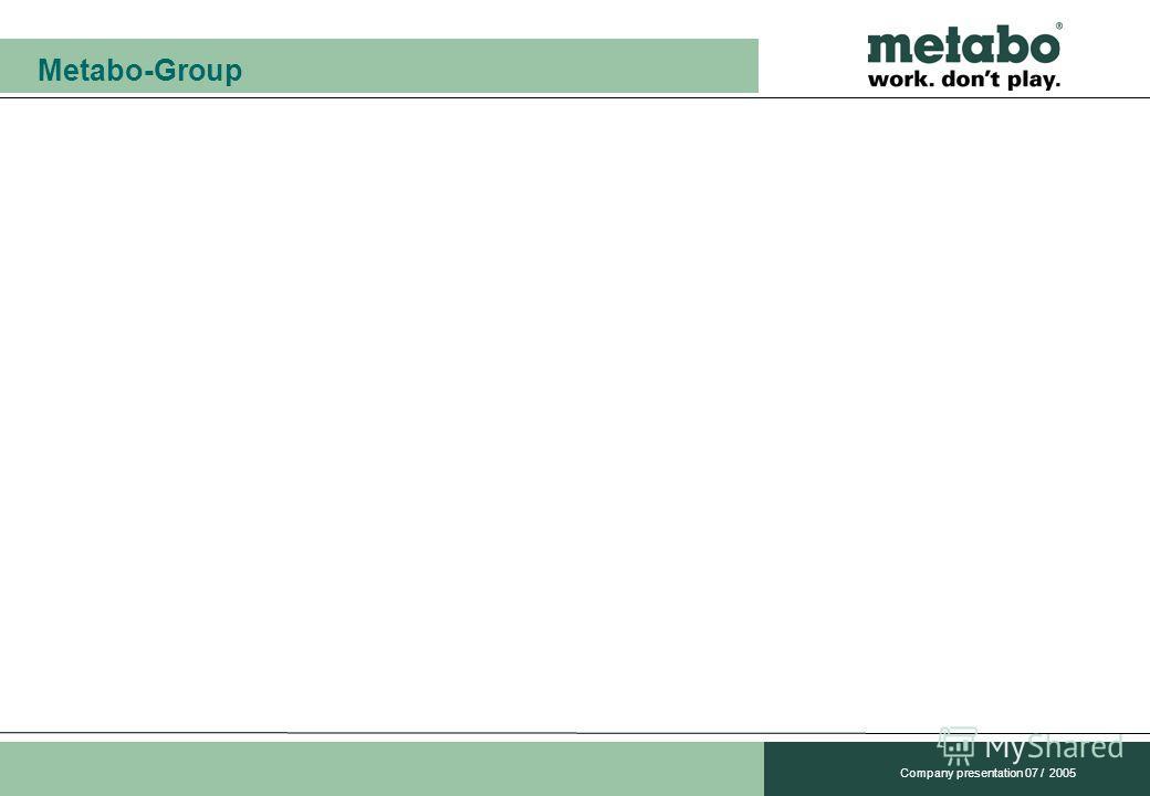 Metabo-Group Company presentation 07 / 2005