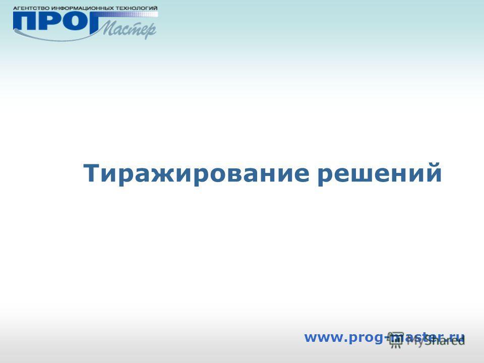 Тиражирование решений www.prog-master.ru