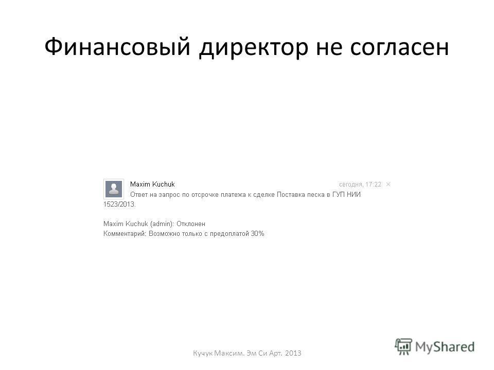 Финансовый директор не согласен Кучук Максим. Эм Си Арт. 2013
