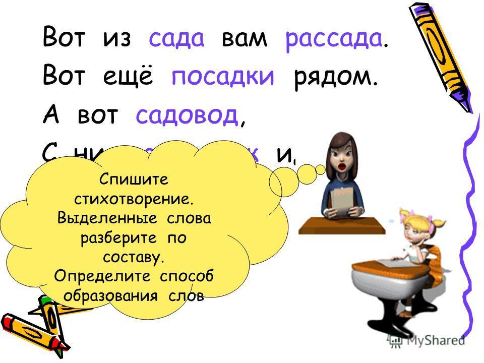 ПРОВЕРЬ СЕБЯ Напёрсток, зонтик Определите способ образования слов