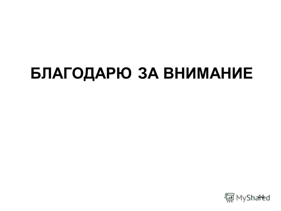 БЛАГОДАРЮ ЗА ВНИМАНИЕ 44