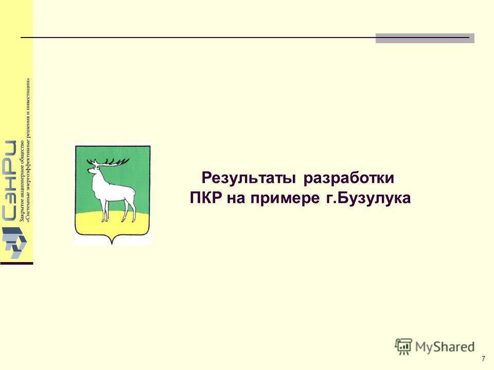 Результаты разработки ПКР на примере г.Бузулука 7