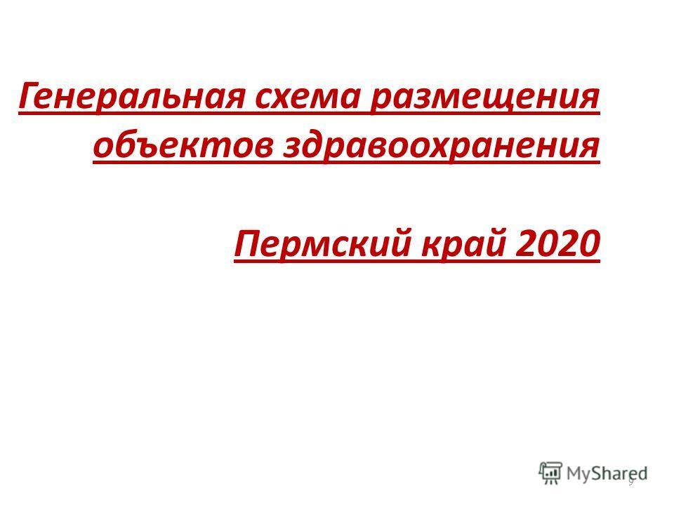Генеральная схема размещения объектов здравоохранения Пермский край 2020 9