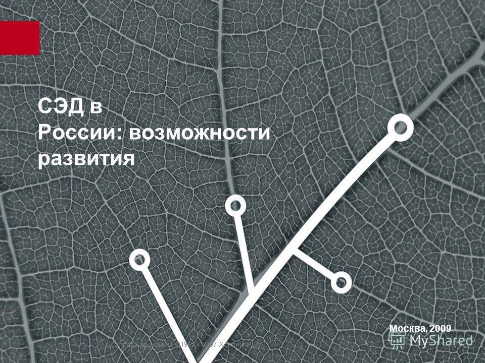 Все права защищены ©1995 – 2007 Холдинг РБК СЭД в России: возможности развития Москва, 2009