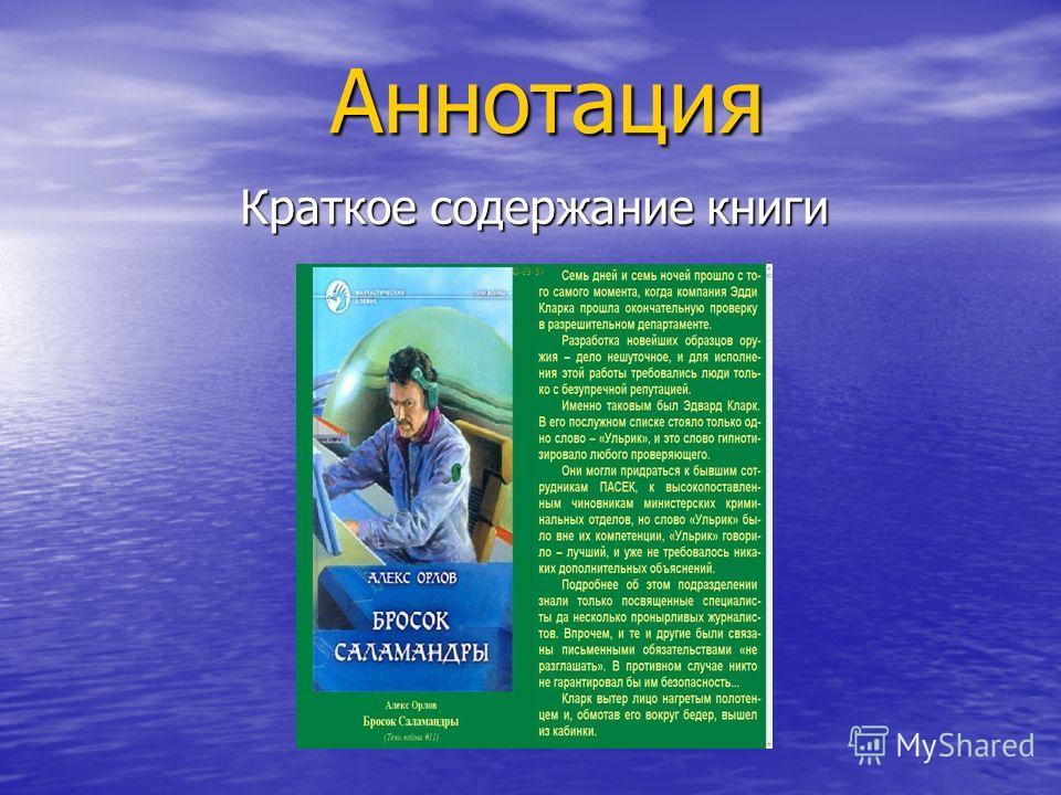 Аннотация Краткое содержание книги