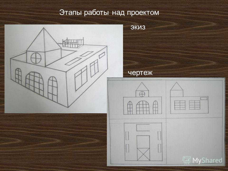 Этапы работы над проектом экиз чертеж