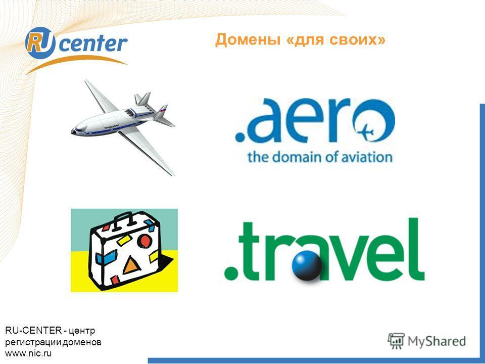 Как работает домен TEL? Домены «для своих» RU-CENTER - центр регистрации доменов www.nic.ru