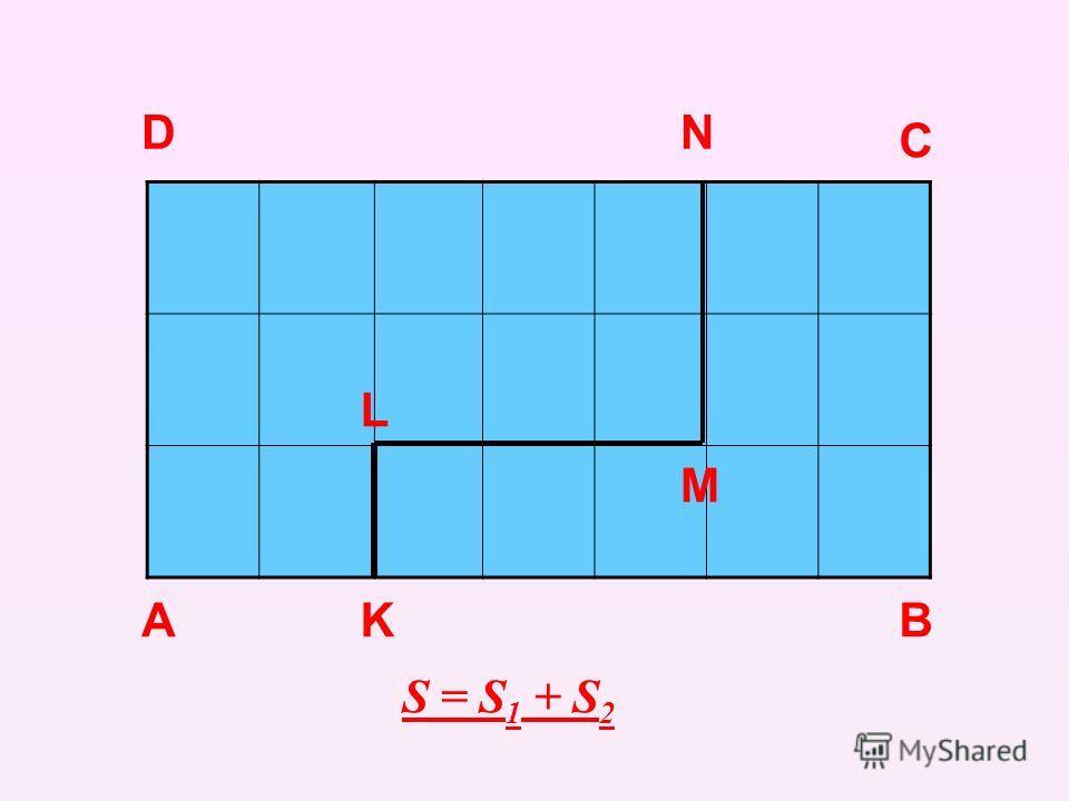 А D C BK L M N S = S 1 + S 2