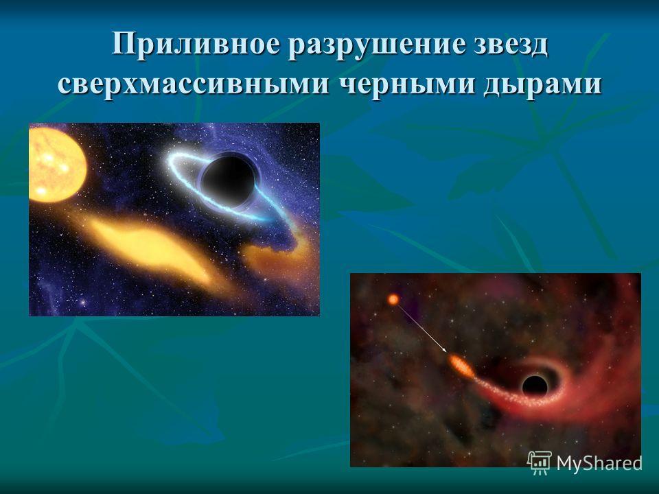 Приливное разрушение звезд сверхмассивными черными дырами