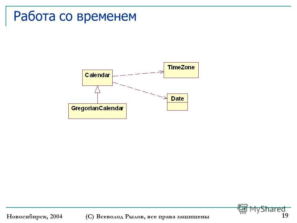 Новосибирск, 2004(С) Всеволод Рылов, все права защищены 19 Работа со временем