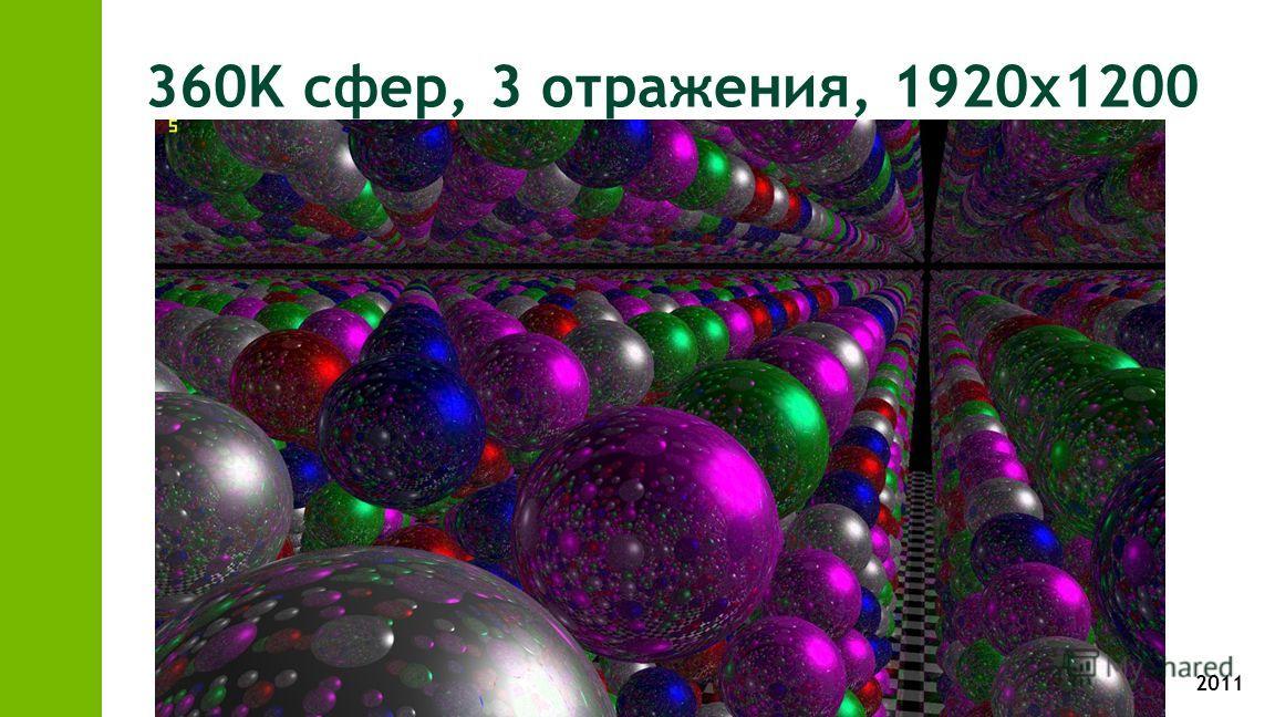2011 360K сфер, 3 отражения, 1920х1200