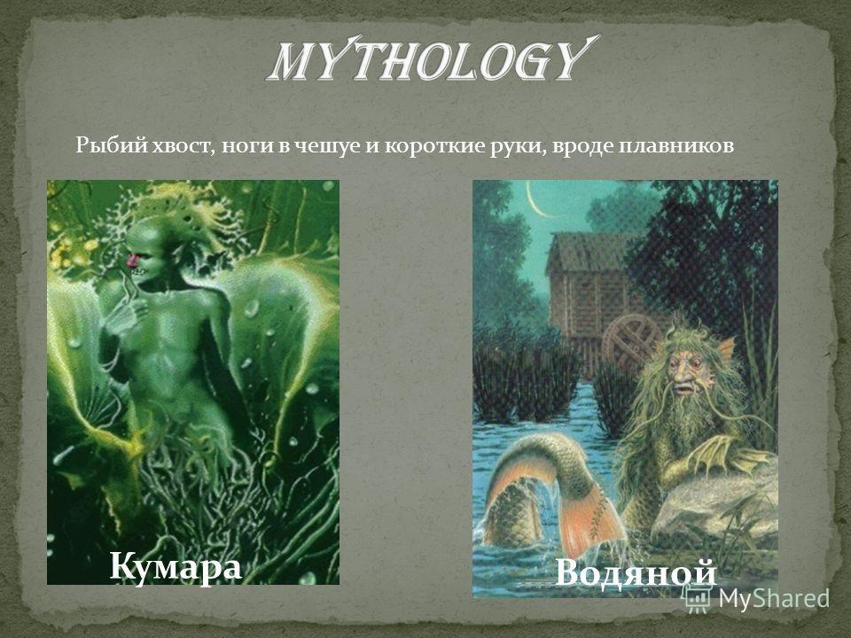 Кумара Водяной Рыбий хвост, ноги в чешуе и короткие руки, вроде плавников