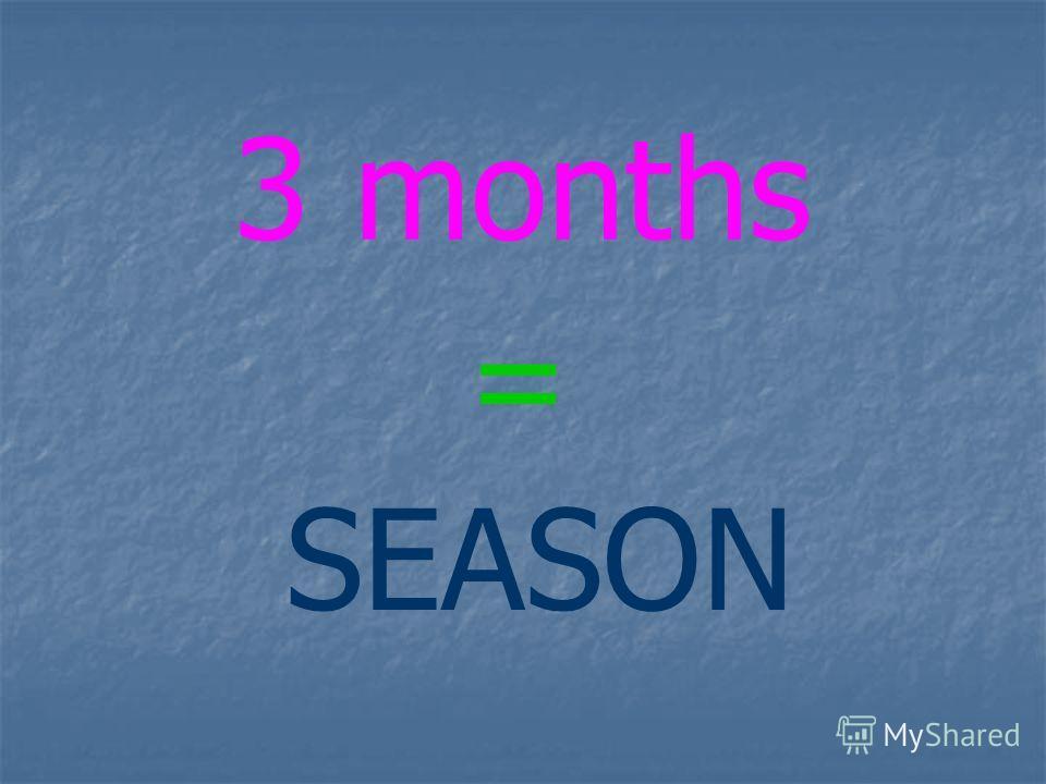 3 months = SEASON