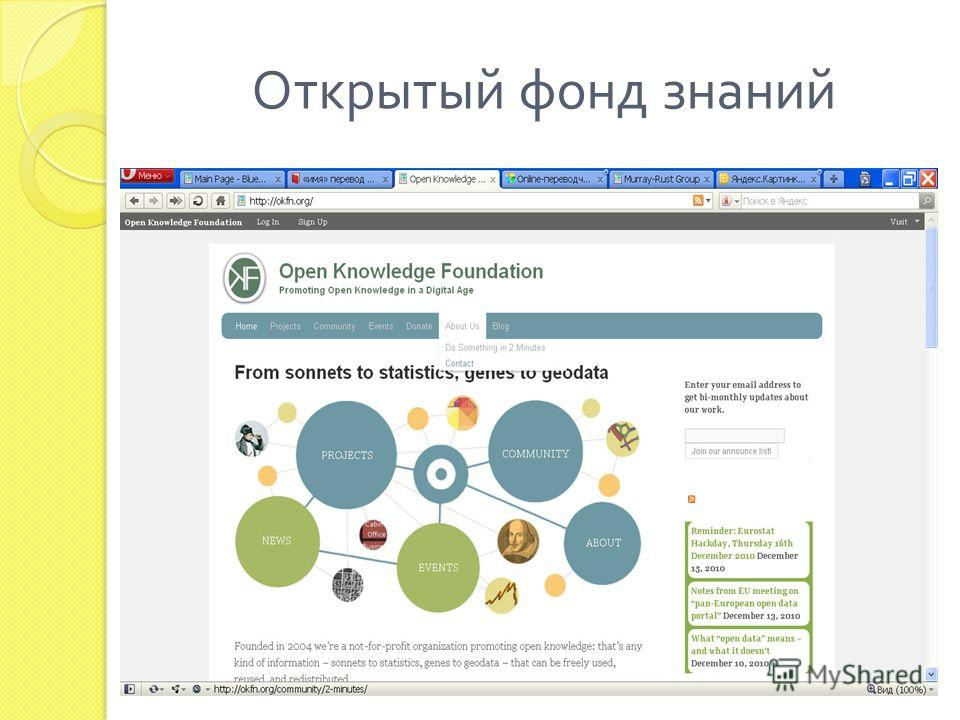 Открытый фонд знаний