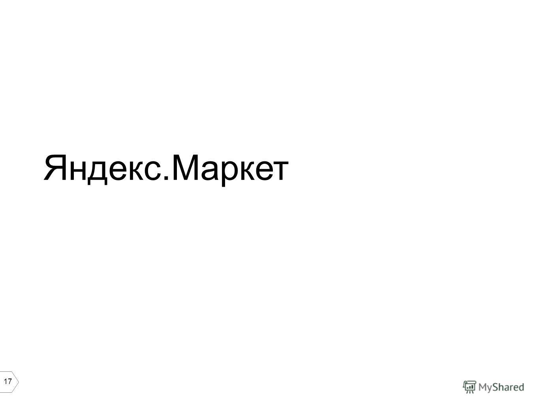 17 Яндекс.Маркет