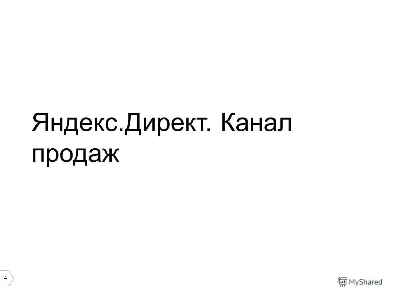 4 Яндекс.Директ. Канал продаж