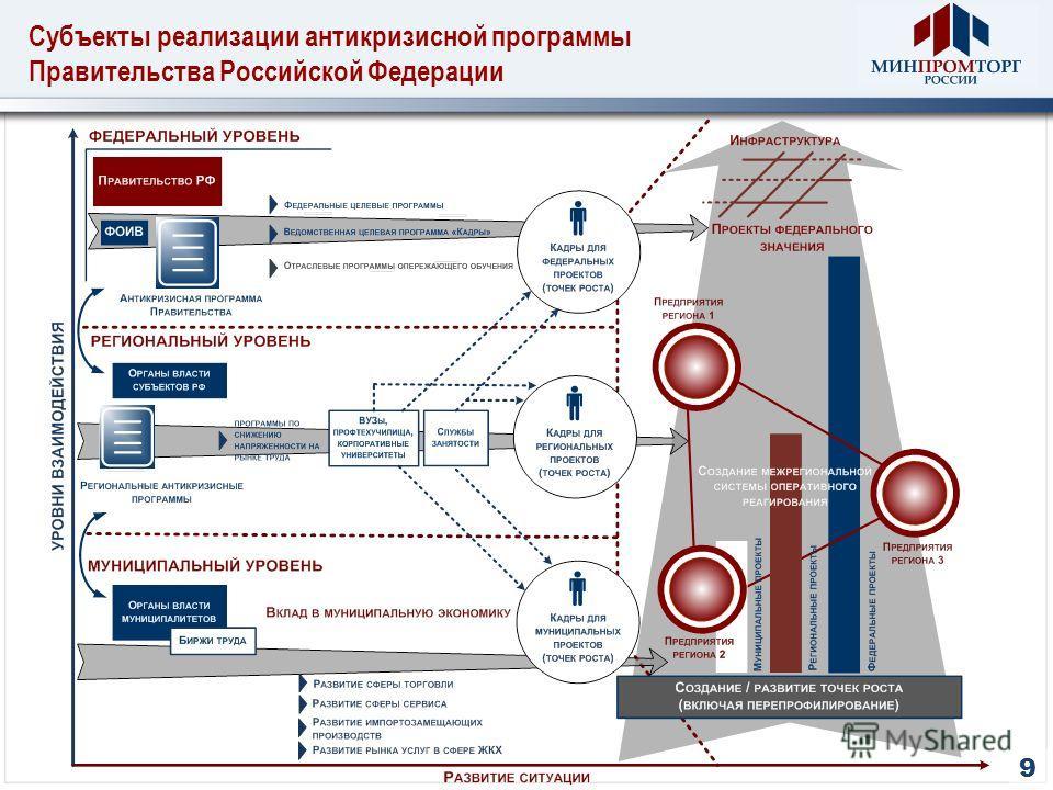 Субъекты реализации антикризисной программы Правительства Российской Федерации 9