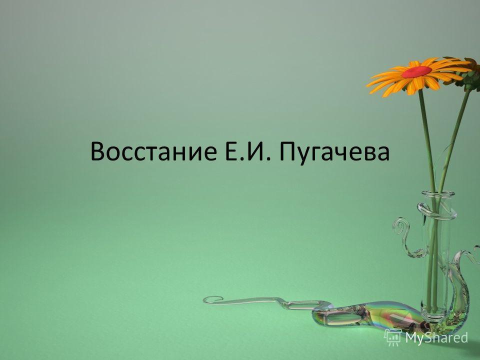 Восстание Е.И. Пугачева