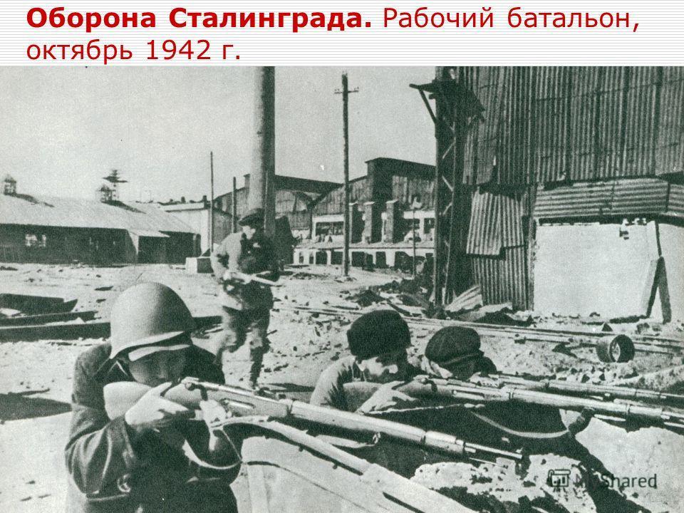 Оборона Сталинграда. Рабочий батальон, октябрь 1942 г.