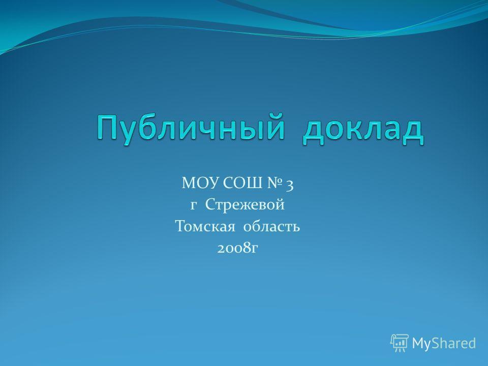 МОУ СОШ 3 г Стрежевой Томская область 2008г