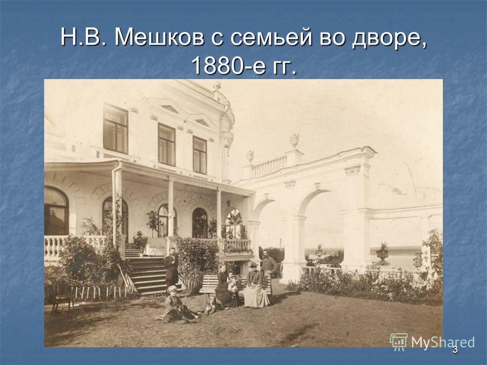 3 Н.В. Мешков с семьей во дворе, 1880-е гг.