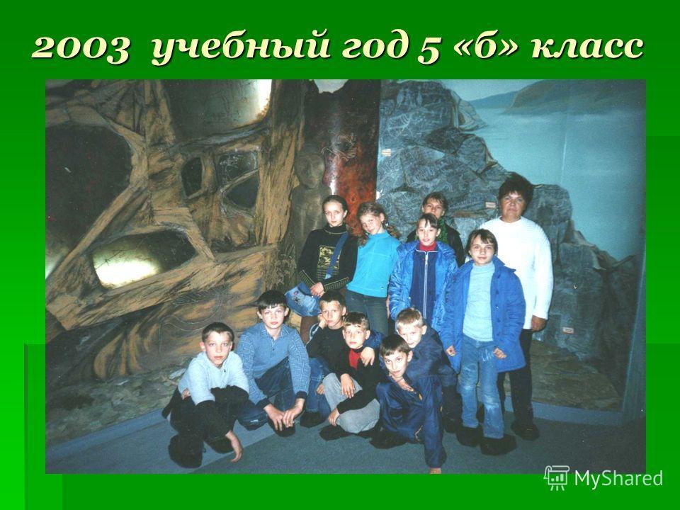 2003 учебный год 5 «б» класс